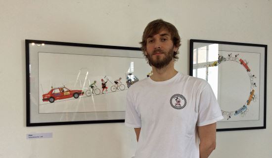 Peloton – an exhibition by artist Alex Cook