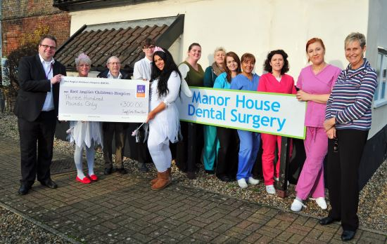 Manor House Dental Surgery raise funds for EACH